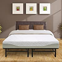 Best Price Mattress 9 Gel-Infused Memory Foam Mattress & 14 Premium Metal Bed Frame Set, Twin