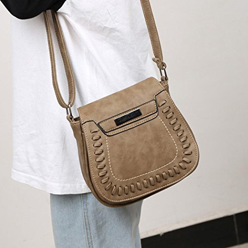 Theft Bag Satchel Bags VEMOW Bag Phone Girl Clutches Color Purse Bags Women Khaki Pure Anti Purses Strap Vintage Tote Leather Handbag Messenger Crossbody Backpacks Shoulder Xq4dwX