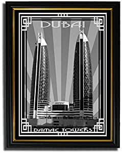 Photo of Damac Tower-Black And White With Silver Border F08-M (A4)