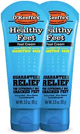 O'Keeffe's K0280016 K0280004-2 Healthy Feet Foot Cream, 3 oz, Tube, (Pack of 2), 2-Pack, 2 Piece