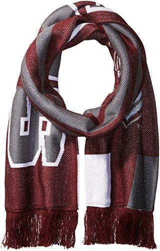 3 Stripe Scarf (MLS Colorado Rapids Adult MLS SP17 3 Stripes Jacquard Scarf,OSFA,Maroon)