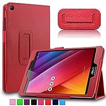 Infiland Asus Zenpad S 8.0 (Z580C/Z580CA) Case, Folio Premium PU Leather Stand Cover Fit 2015 Released ASUS ZenPad S 8 Z580C / Z580CA 8-Inch Tablet (ASUS Zenpad S 8.0 , Red)