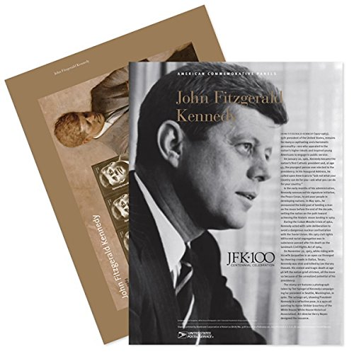 John Fitzgerald Kennedy - Commemorative Panel Collectible Postage Stamps -
