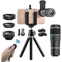 Vorida Phone Camera Lens, 6-in-1 Cell Phone Camera Lens,...