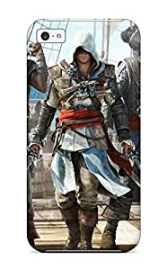 Awesome Assassin's Creed Black Flag Game Flip Case With Fashion Design For Iphone 5c