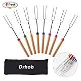 Drhob 8Pcs Retractable Marshmallow Roasting Sticks Set Barbecue Forks Grilling Skewers for BBQ, Picnic, Camping For Sale