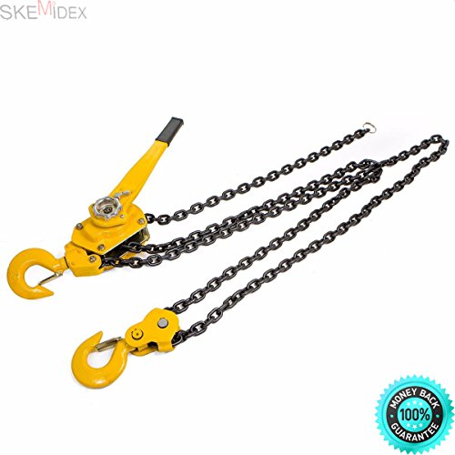 SKEMIDEX---6 Ton Lever Block Chain Hoist Ratchet Type Come Along Puller 10FT Lifter shop And engine hoist rental engine hoist home depot engine stand engine hoist harbor freight engine hoist ()