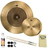 "SABIAN HH Remastered Cymbal Variety Pack: 13"" HH Fusion Hi-Hats (11350) & 20"" HH Duo Ride (12065) with Accessories"
