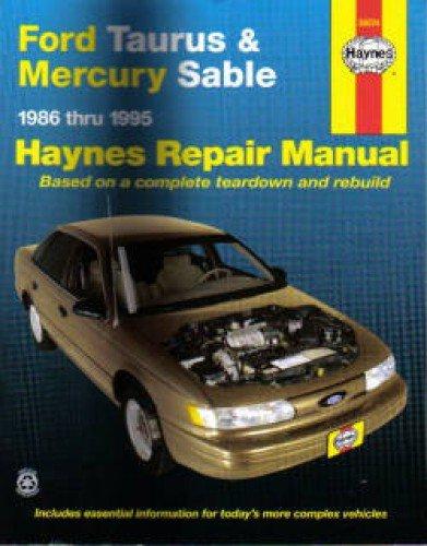 H36074 Haynes Ford Taurus Mercury Sable 1986-1995 Auto Repair Manual