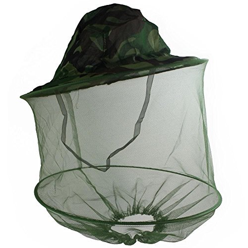 (HOT Mosquito Fly Insect Bee Fishing Mask Face Protect Hat Net Camouflage)