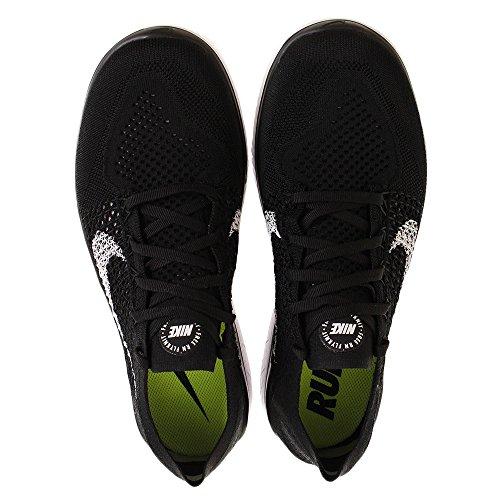 001 white Run Flyknit Laufschuh 2018 Nike Nero Scarpe Da Uomo black Running Free 47Tqx6wxWF