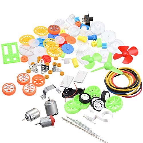 uxcell 85Pcs Plastic Gear Package Kit DIY Gear Assortment accessories set for Toy Motor Car Robot Various Gear Axle Belt Bushings