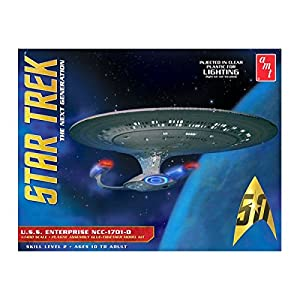 AMT 955 Star Trek The Next Generation U.S.S. Enterprise NCC-1701-D 1:1400 Scale Plastic Model Kit - Requires Assembly