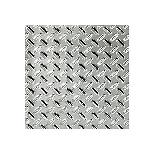 "Fasade - Diamond Plate Chrome Decorative Wall Panel - Fast and Easy Installation (12"" X 12"" Sample)"