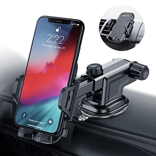 Car Phone Mount VICSEED Universal Car Phone Holder for Dashboard Windshield Adjustable Long Arm Washable Suction Cup Cell Phone Car Mount Fit for iPhone X XS Max XR 8 Plus Samsung Galaxy S10 S9 Note 9