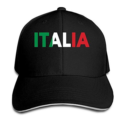 Italia Italy Italian Flag Classic 100% Cotton Hat Caps Unisex Fashion Baseball Cap Adjustable Hip Hop Hat(6 Colors) ()