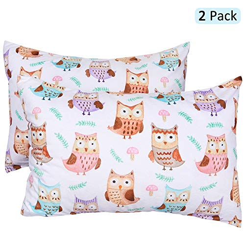 ICOSY Toddler Kids Pillowcase for Girls Pillow Cover Fits Pillows Sized 13 x 18 or 14 x 19, Envelope Style Girls…