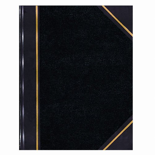 Texhide Accounting Book, Black/Burgundy, 150 Green Pages, 10 3/8 x 8 3/8