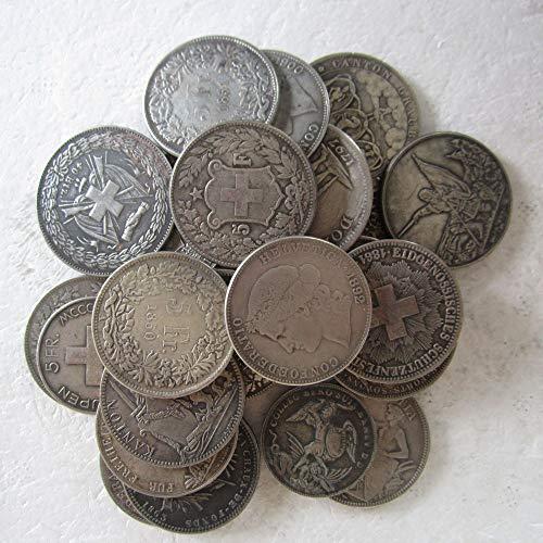 - xingtingyu Random Dates 30pcs Swiss Coins Copy