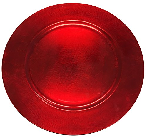 New Elegant Christmas Cherry Red Round Charger Plate Large 13