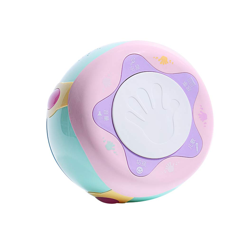 Baby Rechargeable Music Hand Drums Beat Pats Baby Children 0-1 One and A Half Six Seven Eight Ninety Nine Months Toy (Color : Pink, Style : C)