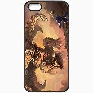 Personalized iPhone 5 5S Cell phone Case/Cover Skin Art Infantryman Ultralisk Hug Run Romance Black