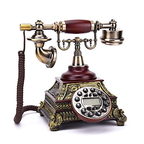 (European and American Antique Telephone Antique Telephone, Mechanical Double Bell, Free Replacement Ringtone, Home Office)