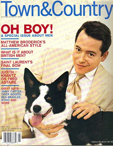 Town & Country Magazine May 2002 Matthew Broderick on Cover Pamela - That The Eye Meets Than More