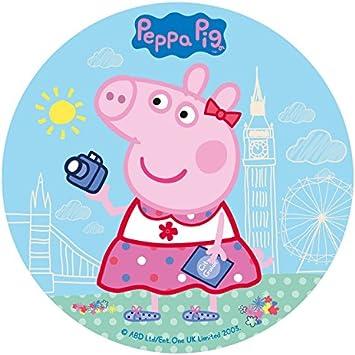 Generique Disque En Sucre Peppa Pig 20 Cm Amazon Fr Jeux Et Jouets