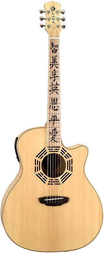Luna Guitars OCL ZEN - Guitarra electroacústica, color marrón ...