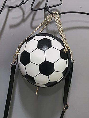 de Bolso Hombro Bolso Mujer de Mano Blanco Onfashion y de Negro con Color Shoulder Fútbol Colisión Negro Forma Blanco Bolso Negro de de Bolso Crossbody Blanco Diseño en Aw6qRUx