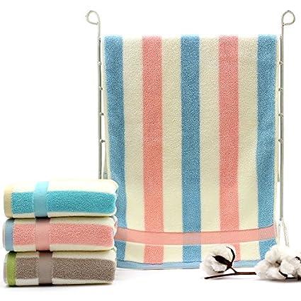 Suave algodón toalla Juego de toallas para baño de tres Toallas de mano Juego de toallas