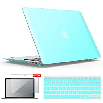 iBenzer MacBook Air 13 Inch Case, Soft Touch Hard Case Shell Cover with  Keyboard Cover Screen Protector for Apple MacBook Air 13 A1369 1466 NO  Touch