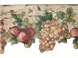 grape border wallpaper - Norwall Large Tan and Green Grape Vine Die Cut Wallpaper Border