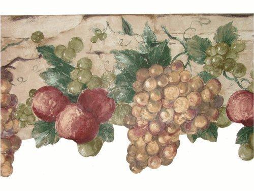 wine and grape border - 7