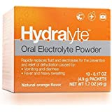 Hydralyte - Oral Electrolyte Powder, On-the-go Clinical Hydration Formula for Hydralyte Drink (Orange, 10 Count)
