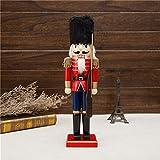 SOWATT Soldier Nutcracker with Rifle, Solid Wood