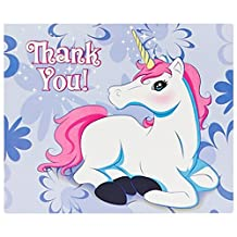 Enchanted Unicorn Party Supplies - Thank-You Notes (8)