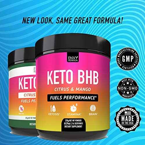 Keto BHB Citrus and Mango Powder - Fuels Performance -Exogenous Ketones (BHB) - Supports Ketosis, Metabolism, Improved Energy, and Mental Performance - 16 Servings 3