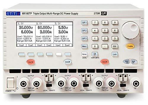 TTi MX180TP Triple Output 375 Watt DC Power Supply with USB, RS-232