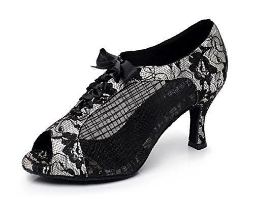 Zapatos JSHOE De De Mujeres De De Baile Impreso Malla Am Encaje Las De xttqpwr