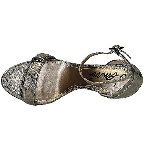Lanvin sandalias de tacón de piel de becerro metalizada - Número de modelo: AW5L2CLIZC8A metálico