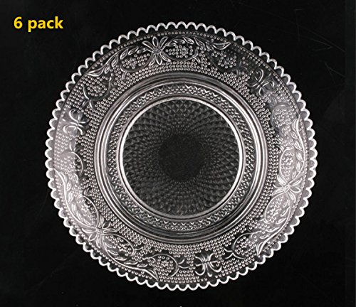 6 Pieces Restaurant Home Décor Accents Salad/Dessert Plate Cup Coaster,6 inch(set of 6)