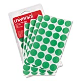 Universal 40115 Self-Adhesive Removable Color-Coding Labels, 3/4-Inch Dia, Green, 1008/Pack