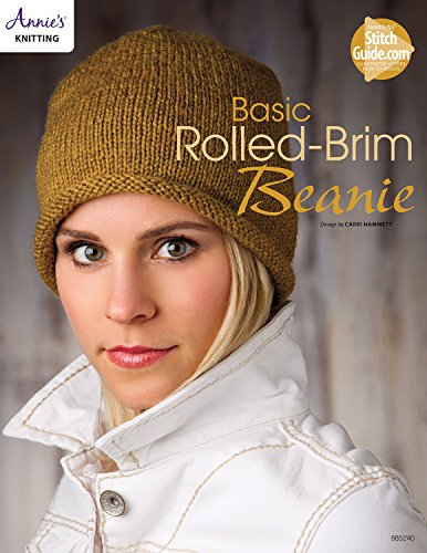 Basic Rolled-Brim Beanie Knit Pattern