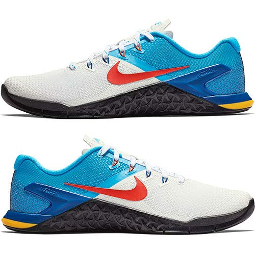 Nike Men's Metcon 4 Training Shoes (11.5, White/Bright Blue)