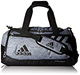 adidas Team Issue Duffel Bag, Onix Jersey/Black, Small