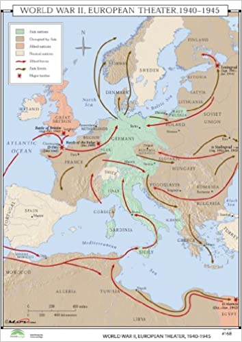 Amazon In Buy Wwii Europe Theatre World History Wall Maps Book