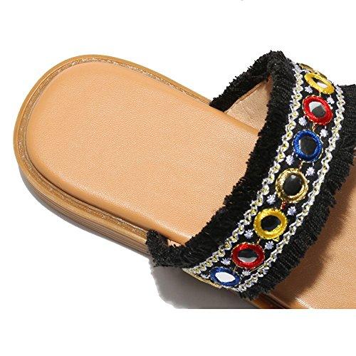 Amato Da Pantofole Xia Studenti uk4 Al Di Jiu Parola colore Donna Cool Dalle Eu36 Dimensioni cn36 Fuori 1 Nuova National Sandali Donne Della Spiaggia Wind 1 Pingdi zw8ATq