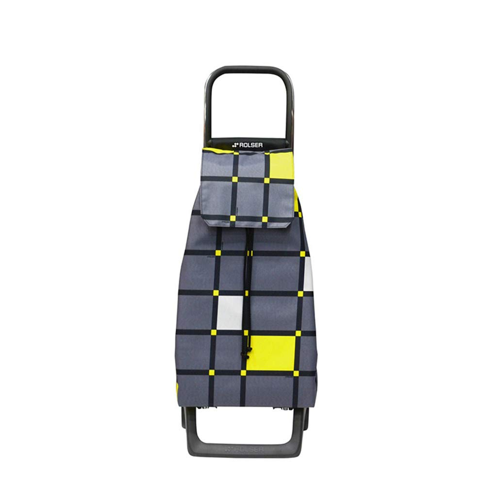 ファッションショッピングカート実用的な二輪のポータブル荷物カート45L大容量 (色 : イエロー いえろ゜) B07L6GZRTL イエロー いえろ゜